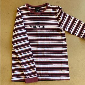 HUF 90s Style Striped Long Sleeve Tee